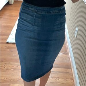 Dresses & Skirts - Jean pencil skirt
